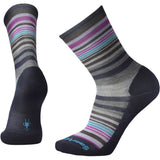 Women's Jovian Stripe Socks-Smartwool-Deep Navy Heather-Meadow Mauve Heather-S-Uncle Dan's, Rock/Creek, and Gearhead Outfitters
