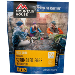Scrambled Eggs w/ Bacon-Mountain House-Uncle Dan's, Rock/Creek, and Gearhead Outfitters
