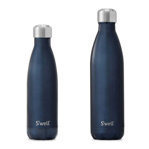 Shimmer Water Insulated Bottle 17 oz-S'well-Blue Suede-Uncle Dan's, Rock/Creek, and Gearhead Outfitters