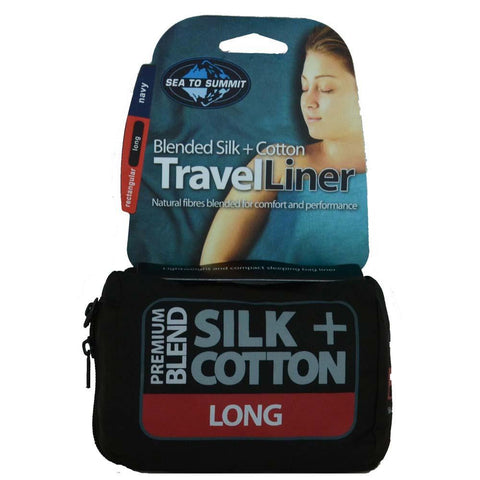 Silk/Cotton Blend Travel Liner - Long Rectangular
