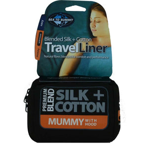 Premium Blend Silk & Cotton Traveller Liner-Mummy with Hood-Sea to Summit-Uncle Dan's, Rock/Creek, and Gearhead Outfitters