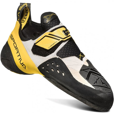 Solution Climbing Shoe-La Sportiva-White/Yellow-36.5-Uncle Dan's, Rock/Creek, and Gearhead Outfitters