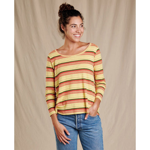 Women's Grom Swing 3/4 Tee-Toad&Co.-Dusty Citron Stripe-XS-Uncle Dan's, Rock/Creek, and Gearhead Outfitters