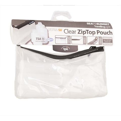Travelling Light TPU Clear Zip Pouch with Bottles