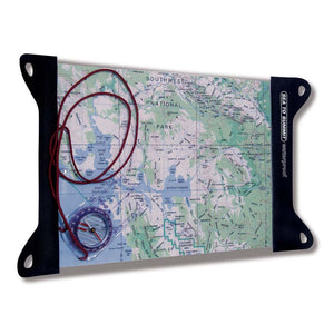 TPU Guide Map Case - Medium-Sea to Summit-Uncle Dan's, Rock/Creek, and Gearhead Outfitters