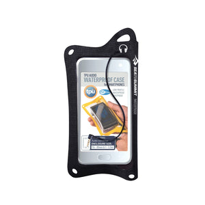 TPU Audio Waterproof Case for Smartphones-Sea to Summit-Black-Uncle Dan's, Rock/Creek, and Gearhead Outfitters