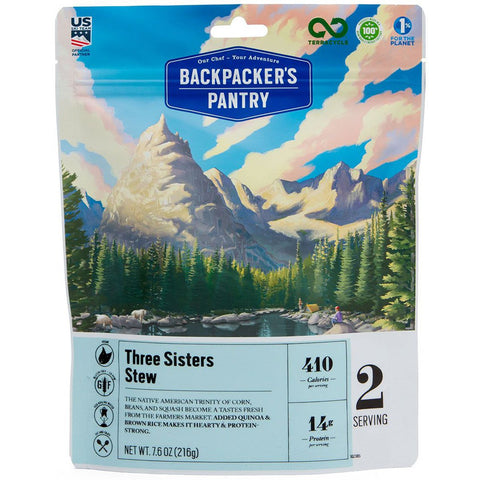 Three Sisters Stew - Serves 2-Backpacker's Pantry-Uncle Dan's, Rock/Creek, and Gearhead Outfitters