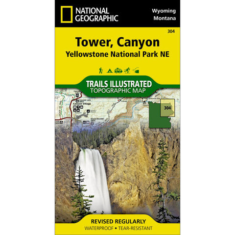 Tower, Canyon: Yellowstone National Park NE-National Geographic Maps-Uncle Dan's, Rock/Creek, and Gearhead Outfitters