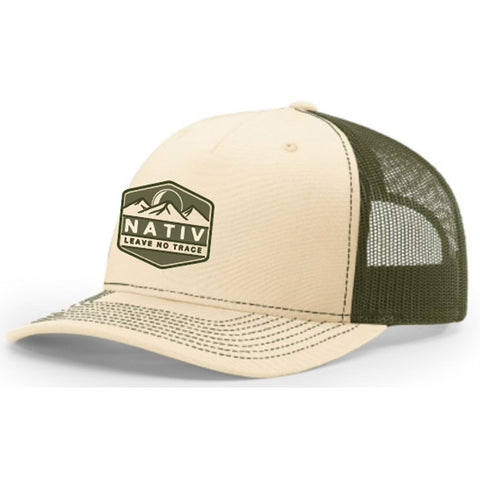 Leave No Trace Structured Trucker-Nativ-Beige/Olive-Uncle Dan's, Rock/Creek, and Gearhead Outfitters