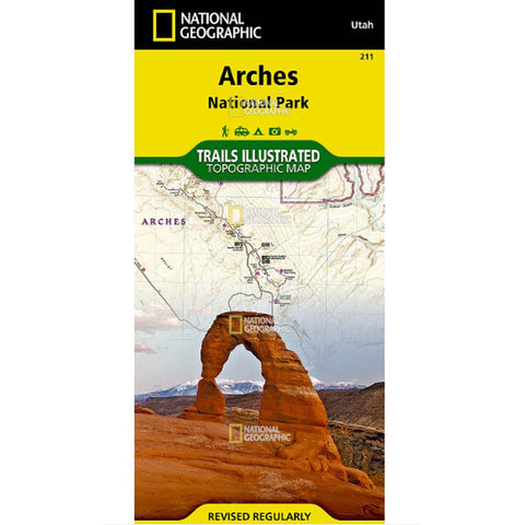 Trails Illustrated Map: Arches National Park-National Geographic Maps-Uncle Dan's, Rock/Creek, and Gearhead Outfitters