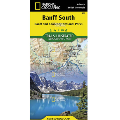 Trails Illustrated Map: Banff South (Banff and Kootenay National Parks)