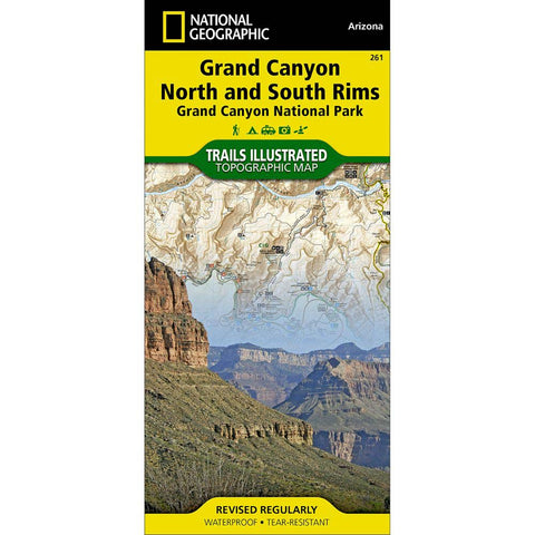 Trails Illustrated Map: Grand Canyon National Park (North and South Rims)