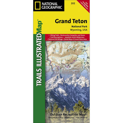 Trails Illustrated Map: Grand Teton National Park-National Geographic Maps-Uncle Dan's, Rock/Creek, and Gearhead Outfitters