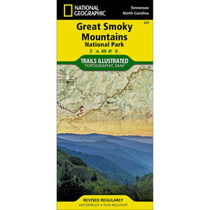 Trails Illustrated Map: Great Smoky Mountains National Park-National Geographic Maps-Uncle Dan's, Rock/Creek, and Gearhead Outfitters