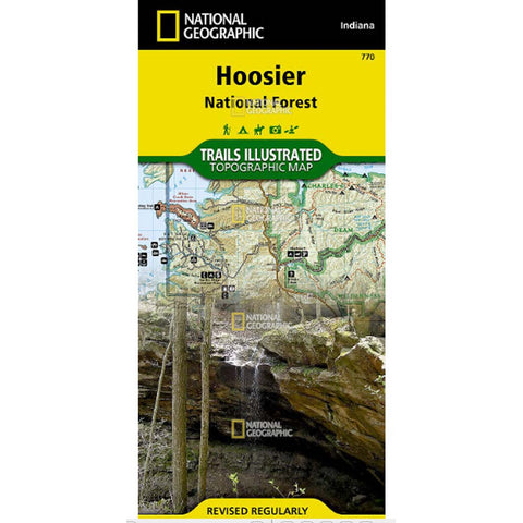 Trails Illustrated Map: Hoosier National Forest-National Geographic Maps-Uncle Dan's, Rock/Creek, and Gearhead Outfitters