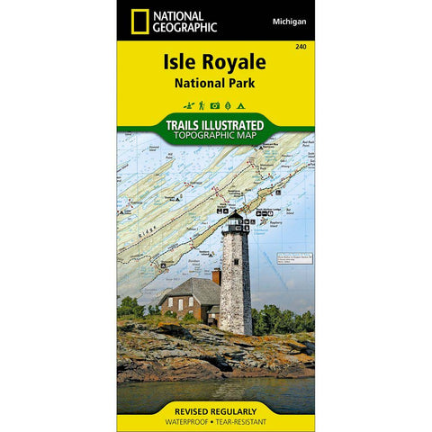 Trails Illustrated Map: Isle Royale National Park-National Geographic Maps-Uncle Dan's, Rock/Creek, and Gearhead Outfitters