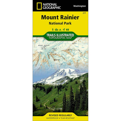 Trails Illustrated Map: Mount Rainier National Park-National Geographic Maps-Uncle Dan's, Rock/Creek, and Gearhead Outfitters