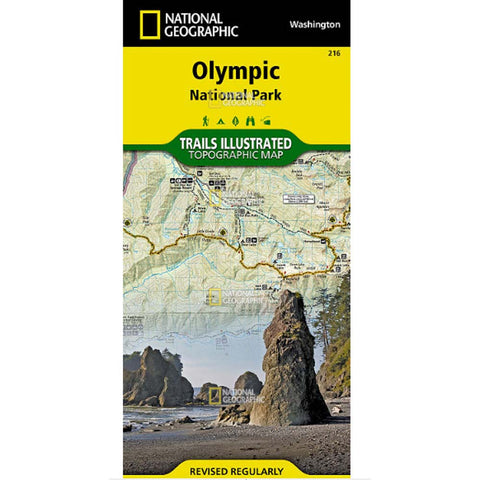 Trails Illustrated Map: Olympic National Park-National Geographic Maps-Uncle Dan's, Rock/Creek, and Gearhead Outfitters