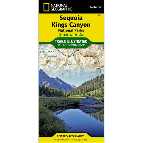 Trails Illustrated Map: Sequoia & Kings Canyon National Parks-National Geographic Maps-Uncle Dan's, Rock/Creek, and Gearhead Outfitters