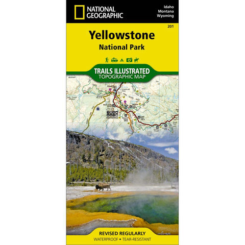 Trails Illustrated Map: Yellowstone National Park-National Geographic Maps-Uncle Dan's, Rock/Creek, and Gearhead Outfitters