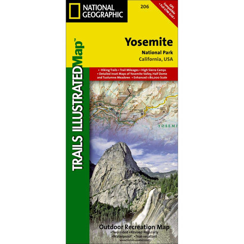 Trails Illustrated Map: Yosemite National Park-National Geographic Maps-Uncle Dan's, Rock/Creek, and Gearhead Outfitters
