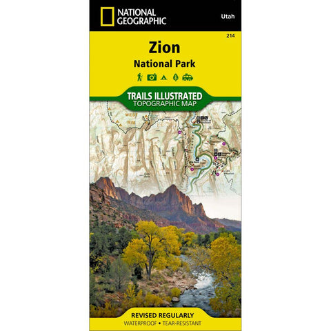 Trails Illustrated Map: Zion National Park-National Geographic Maps-Uncle Dan's, Rock/Creek, and Gearhead Outfitters