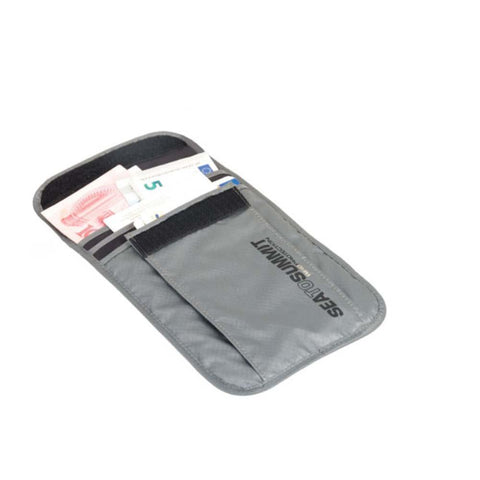 Travelling Light Neck Pouch RFID - Large-Sea to Summit-Grey-Uncle Dan's, Rock/Creek, and Gearhead Outfitters