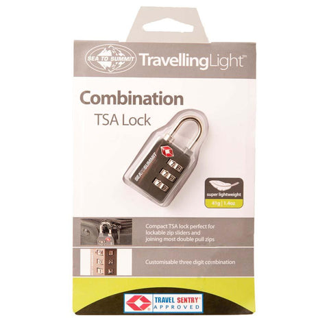 Travelling Light TSA Travel Lock-Combination-Sea to Summit-Uncle Dan's, Rock/Creek, and Gearhead Outfitters