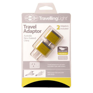 Travelling Light Travel Adaptor - Australia/NZ/China-Sea to Summit-Uncle Dan's, Rock/Creek, and Gearhead Outfitters