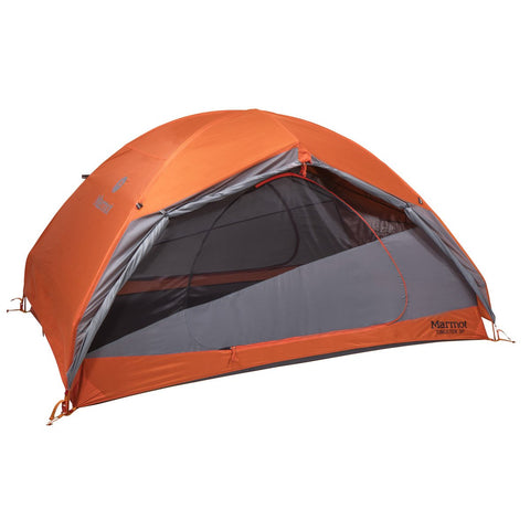 Tungsten 3P Tent-Marmot-Blaze/Steel-Uncle Dan's, Rock/Creek, and Gearhead Outfitters