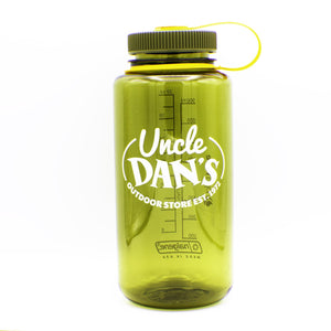 32 oz Uncle Dan's Logo Wide Mouth Bottle-Nalgene-Olive-Uncle Dan's, Rock/Creek, and Gearhead Outfitters