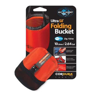 Ultra-Sil Folding Bucket 10L-Red-Sea to Summit-Uncle Dan's, Rock/Creek, and Gearhead Outfitters