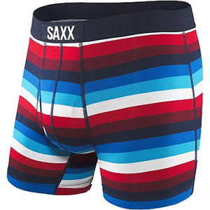 Men's Ultra Boxer Brief-Saxx-Navy Red Cabana Stripe-S-Uncle Dan's, Rock/Creek, and Gearhead Outfitters