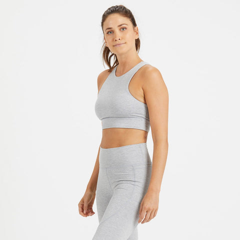 Vuori Women's Juno Sports Bra - VW136_Light Heather Grey