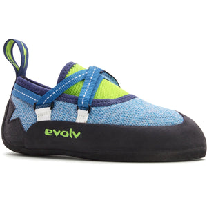 Kid's Venga Climbing Shoe-Evolv-Blue-1-Uncle Dan's, Rock/Creek, and Gearhead Outfitters