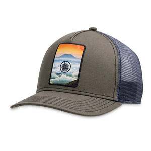 Vortex Trucker Hat-Pistil-Olive-Uncle Dan's, Rock/Creek, and Gearhead Outfitters