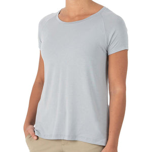 Women's Bamboo Explorer Tee-Free Fly-Heather Ash-XS-Uncle Dan's, Rock/Creek, and Gearhead Outfitters