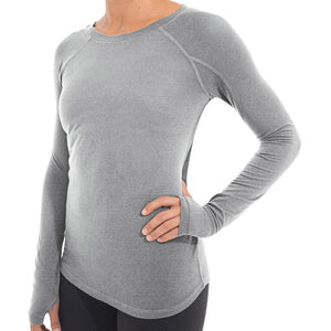 Women's Bamboo Midweight Long Sleeve-Free Fly-Heather Grey-XL-Uncle Dan's, Rock/Creek, and Gearhead Outfitters