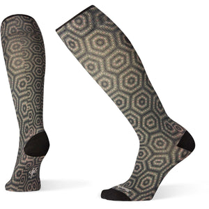 Women's Compression Hexa-Jet Print OTC Socks-Smartwool-Charcoal-M-Uncle Dan's, Rock/Creek, and Gearhead Outfitters