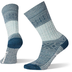 Women's Garter Stitch Texture Crew Socks-Smartwool-Frosty Green-M-Uncle Dan's, Rock/Creek, and Gearhead Outfitters