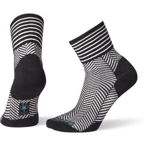 Women's Herringbone Mini Boot Socks-Smartwool-Black-S-Uncle Dan's, Rock/Creek, and Gearhead Outfitters