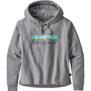 Women's Pastel P-6 Logo Uprisal Hoody-Patagonia-Gravel Heather-L-Uncle Dan's, Rock/Creek, and Gearhead Outfitters