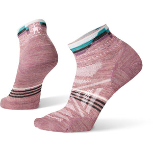 Women's PhD Outdoor Ultra Light Pattern Mini Socks-Smartwool-Nostalgia Rose-S-Uncle Dan's, Rock/Creek, and Gearhead Outfitters