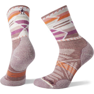 Women's PhD Outdoor Light Pattern Mid Crew-Smartwool-Nostalgia Rose-L-Uncle Dan's, Rock/Creek, and Gearhead Outfitters