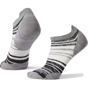 Women's PhD Run Ultra Light Striped Micro Socks-Smartwool-Light Gray-S-Uncle Dan's, Rock/Creek, and Gearhead Outfitters