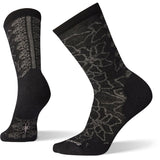 Women's Poinsettia Graphic Crew Socks-Smartwool-Black-M-Uncle Dan's, Rock/Creek, and Gearhead Outfitters