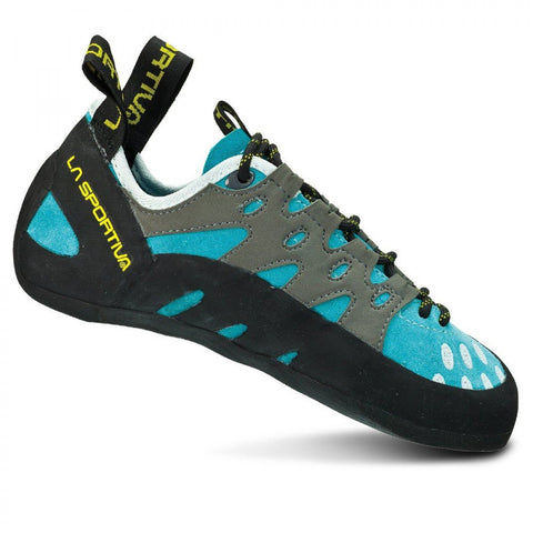 Women's Tarantulace Climbing Shoe-La Sportiva-Turquoise-37.5-Uncle Dan's, Rock/Creek, and Gearhead Outfitters