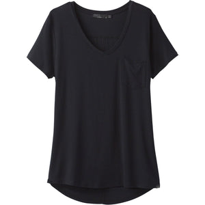 Women's Foundation Short Sleeve V-neck-prAna-Black-XS-Uncle Dan's, Rock/Creek, and Gearhead Outfitters