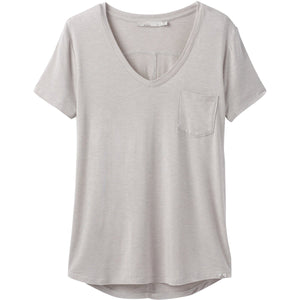 Women's Foundation Short Sleeve V-neck-prAna-Light Grey Heather-XS-Uncle Dan's, Rock/Creek, and Gearhead Outfitters