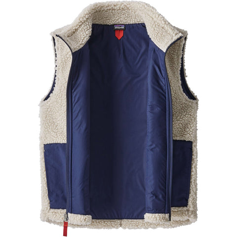 Patagonia Kids' Retro-X Vest-65619_Natural w/Classic Navy